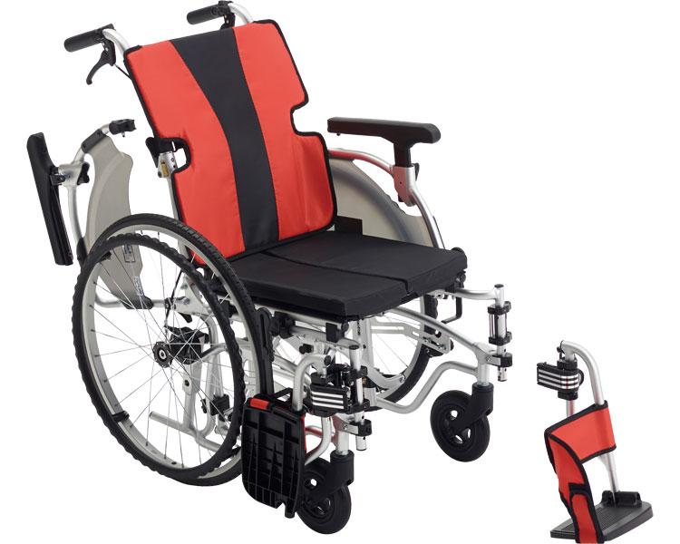 アルミ自走車いす MEF-22 スタンダード /  2色より選べます。
