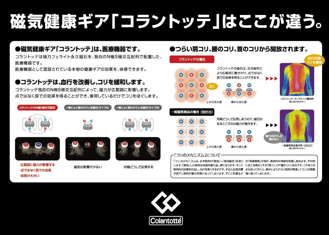 【国内正規品/日本製】 コラントッテ TAO ネックレス AURA ブラック  M/L/LL