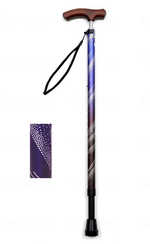 ☆ギフトボックス可☆ 夢ライフステッキ スリムネック伸縮ベーシックタイプ(柄) 4色より選べます