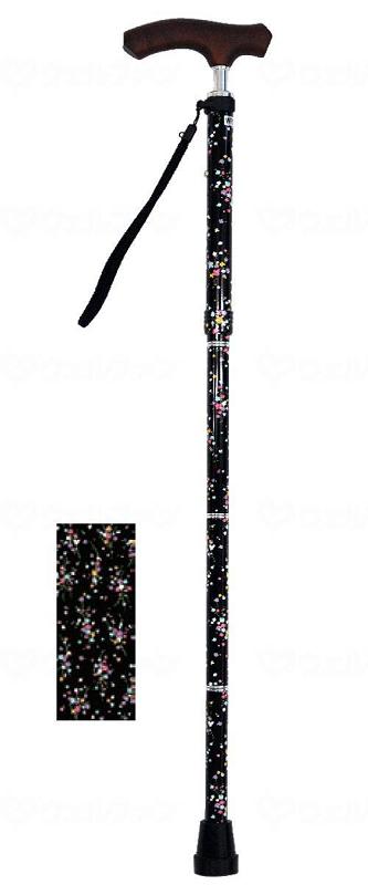 ☆ギフトボックス可☆ 夢ライフステッキ スリムネック折畳ベーシックタイプ(柄) 2色より選べます