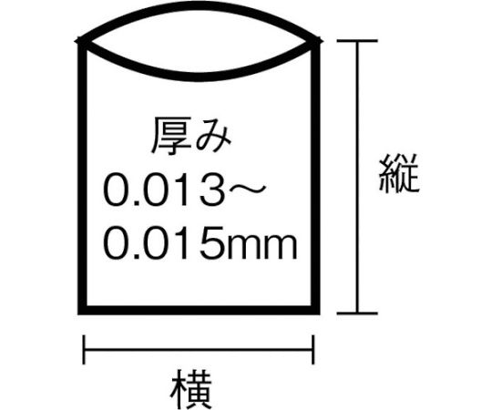 UH54強化ポリ袋45L半透明 50枚