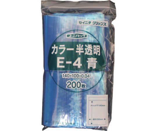 61-2798-16 「ユニパック」 E-4 青 140×100×0.04 200枚入 E-4-CB