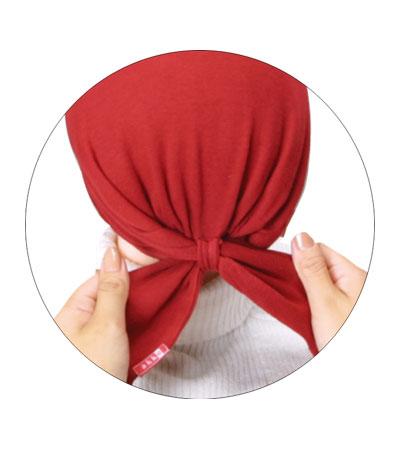 akko「バンダナ帽」 【定番】 / 黒
