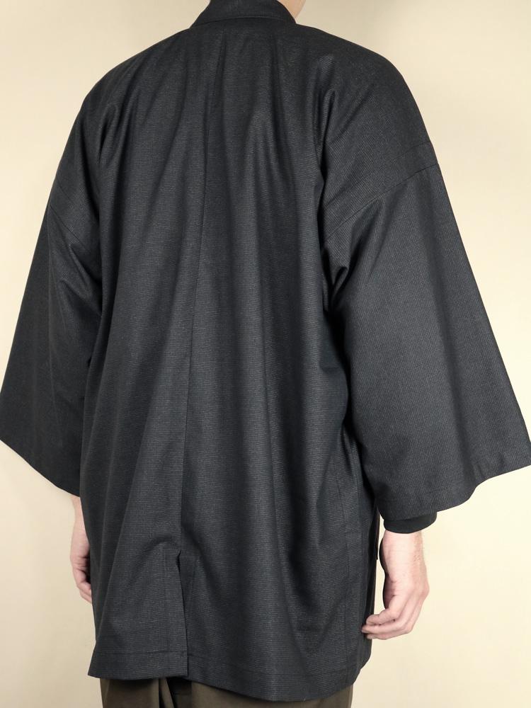 【限定50着】ハオリジャケット 筒袖 ウール混 無地調