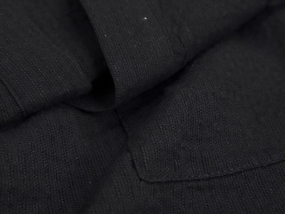 しじら織 甚平 綿100% ブラック