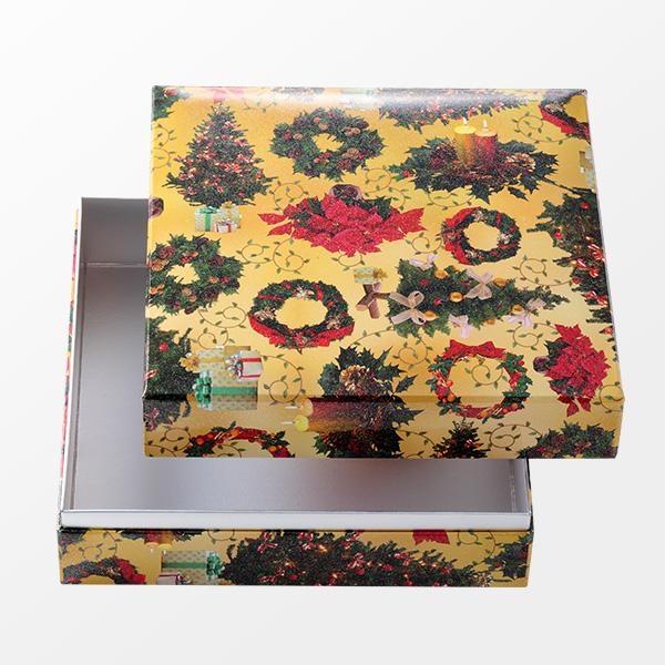 ギフト 塗箱 Xmas (リースとツリー)