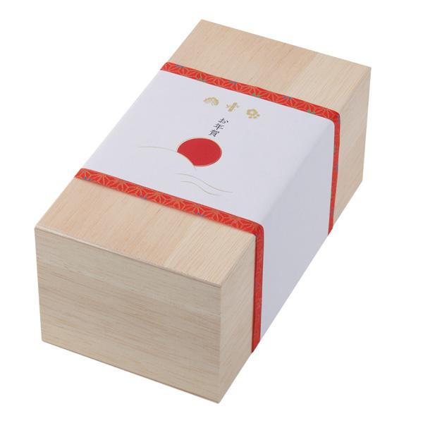 ギフト 木箱用 掛紙 (お正月 白)
