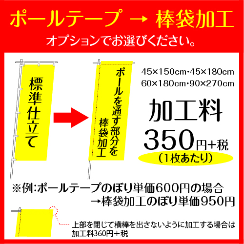 45×180cm 2枚 フルカラーのぼり旗※デザインデータの組み合わせ自由