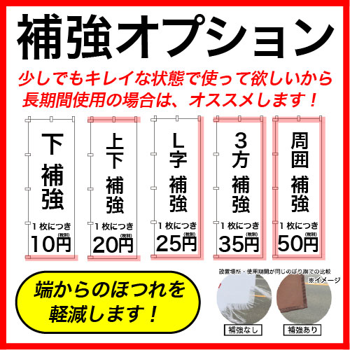 60×180cm 10枚〜19枚 フルカラーのぼり旗 ※全て同じデザインデータで印刷