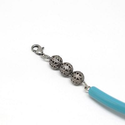 羽織紐/和装小物/無双タイプ/水色/レトロモダン/通販/アクリル,樹脂,銀,古び真鍮/日本製/オフィスサン