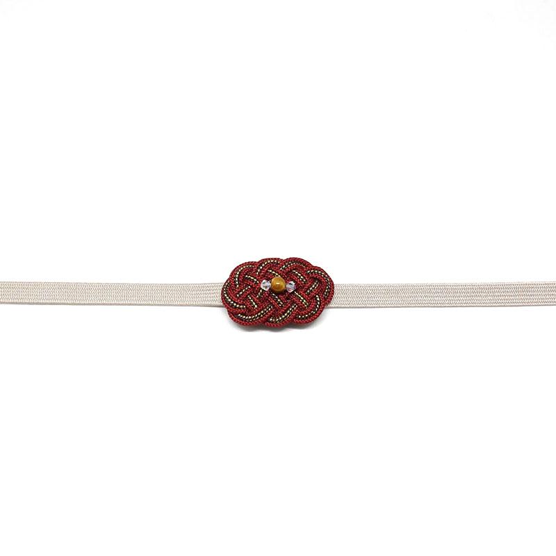 三分紐/和装小物/グレージュ/ニュアンスカラー/無地/カジュアル/小紋や紬に/日本製/絹100%/長さ約126cm×幅8mm/通販