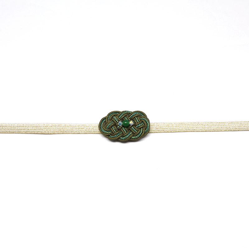 三分紐/和装小物/ゴールド/金属糸/無地/カジュアル/小紋や紬に/日本製/絹100%/長さ約126cm×幅8mm/通販