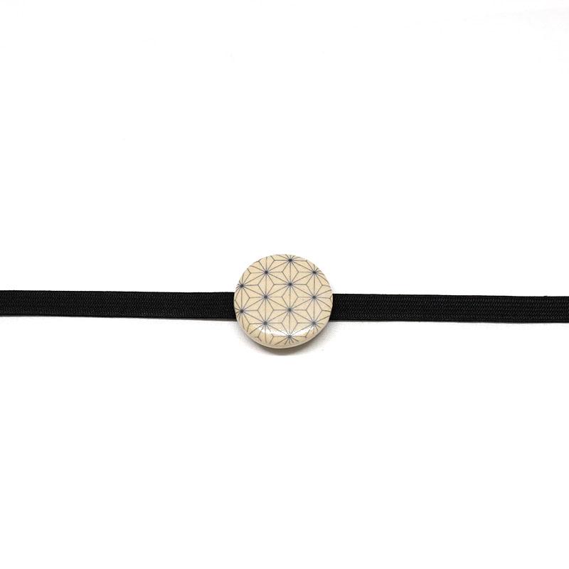 三分紐/和装小物/黒/モノトーン/無地/カジュアル/小紋や紬に/日本製/絹100%/長さ約126cm×幅8mm/通販