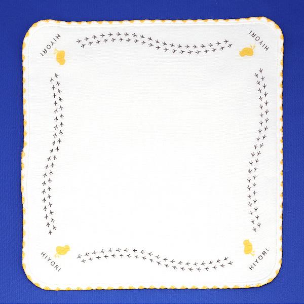 ひよりオリジナル・タオルハンカチ/白/正方形/綿100%/プレゼント用/コンパクトサイズ/24×24cm/日本製