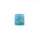 帯留め/和装小物/スクエア/ガラス/水玉/ブルー系/サイズ:約1.7cm×1.7�/通販
