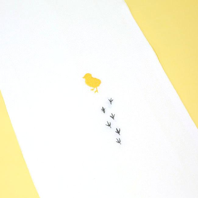 ひよりおさんぽ半衿/刺繍半衿/和装小物/オリジナル商品/国産正絹使用
