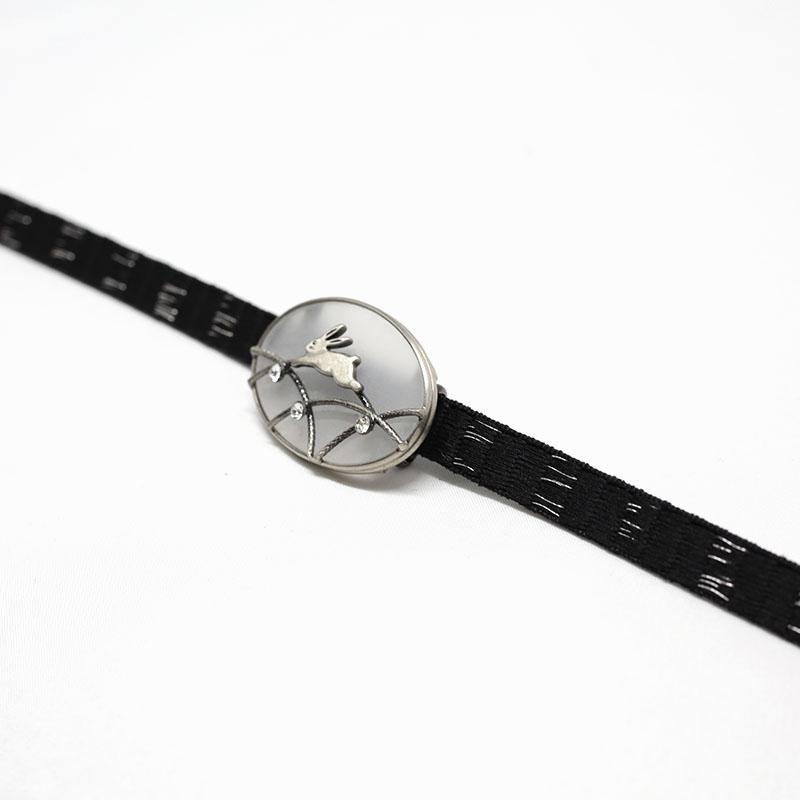三分紐/和装小物/黒×シルバー/カジュアル/小紋や紬に/絹100%/通販/日本製
