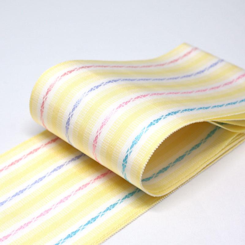 伊達締め/和装小物/着付小物/博多織/黄色/絹100%/日本製/幅10cm×長さ約230�/