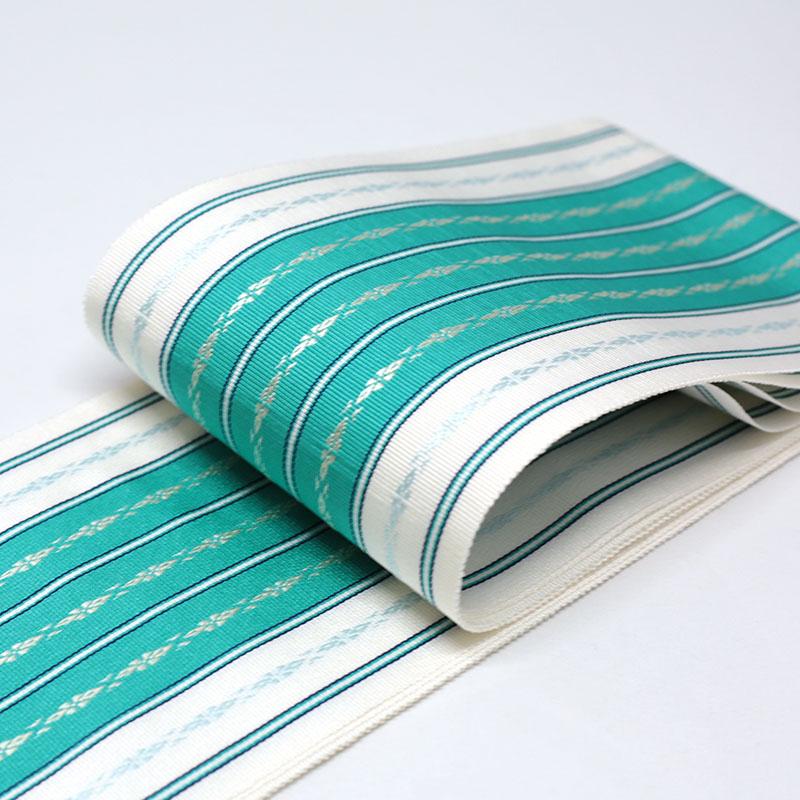 伊達締め/和装小物/着付小物/博多織/緑/絹100%/日本製/幅10cm×長さ約230�/