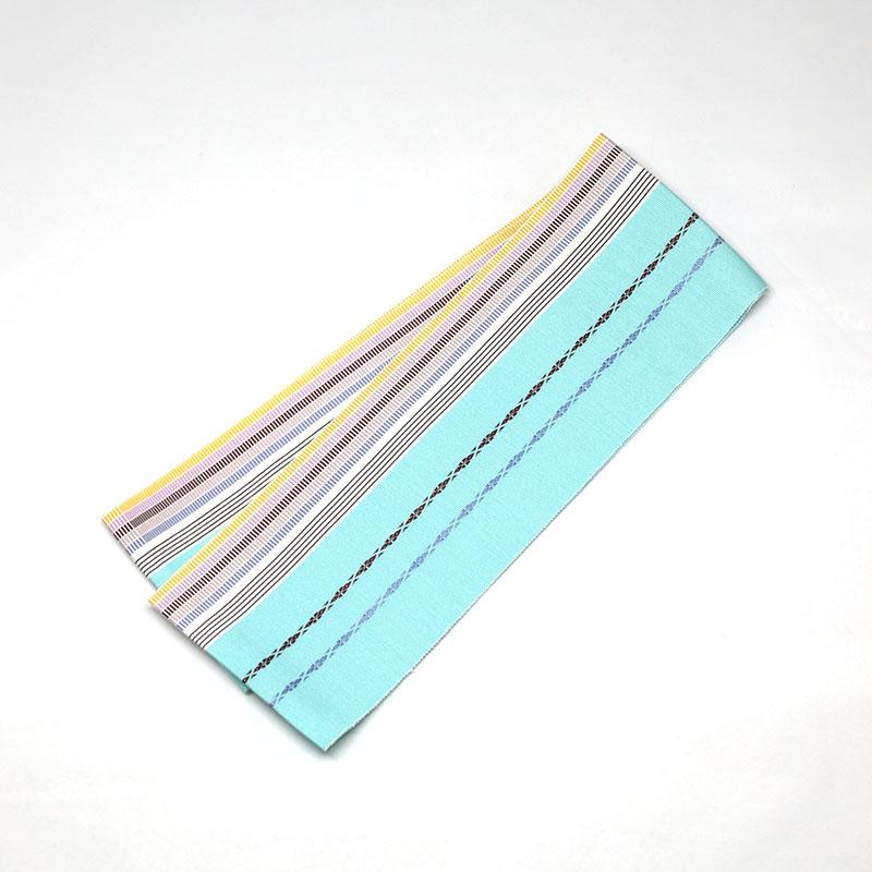伊達締め/和装小物/着付小物/博多織/水色/絹100%/日本製/幅10cm×長さ約230�/