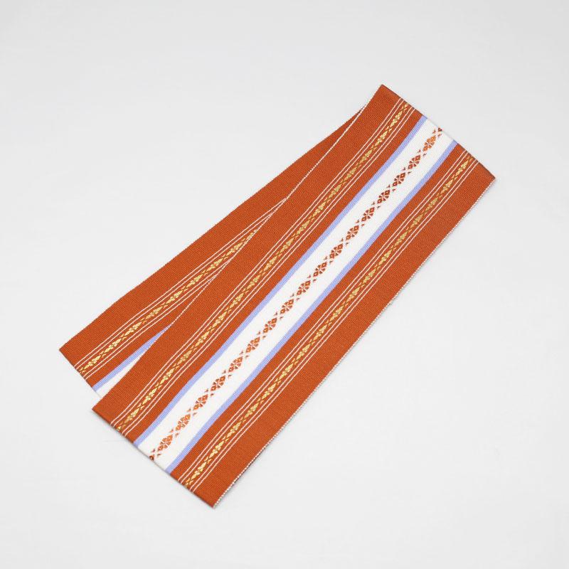 伊達締め/和装小物/着付小物/博多織/朱色/絹100%/日本製/幅10cm×長さ約230�/