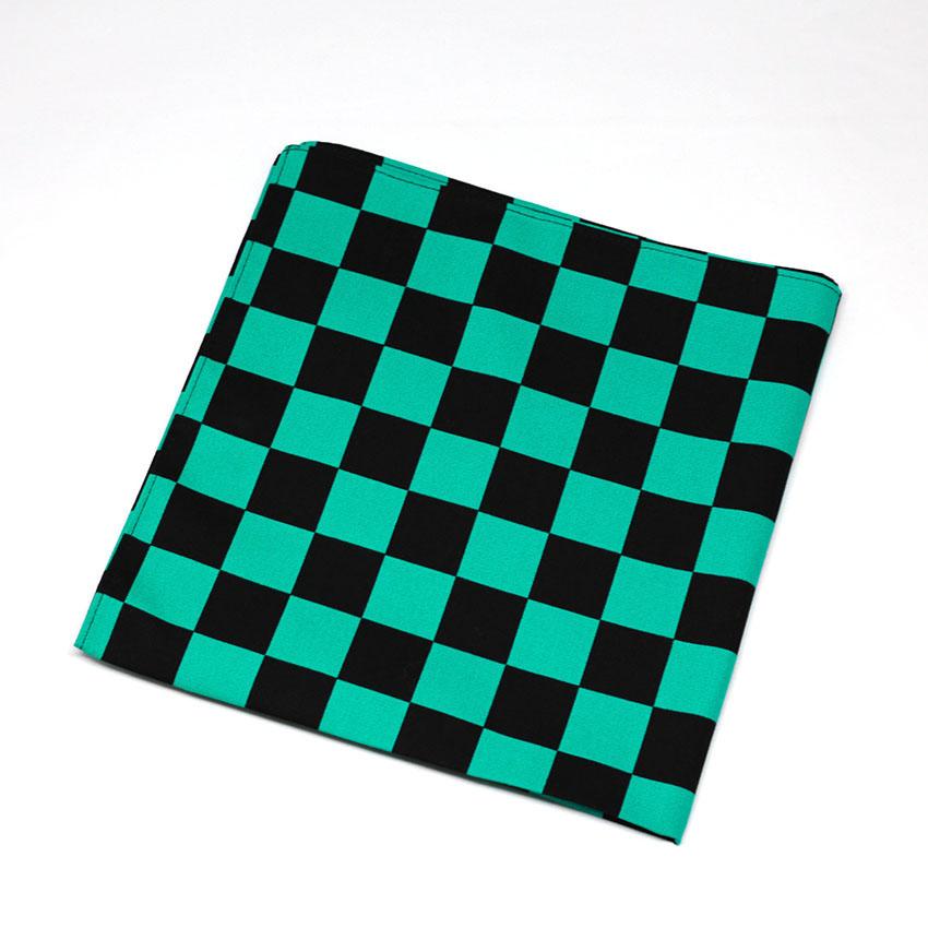 小風呂敷/和装小物/緑×黒(市松)/和柄/カジュアル/サイズ:約39.5cm×39.5cm/綿100%/日本製/通販