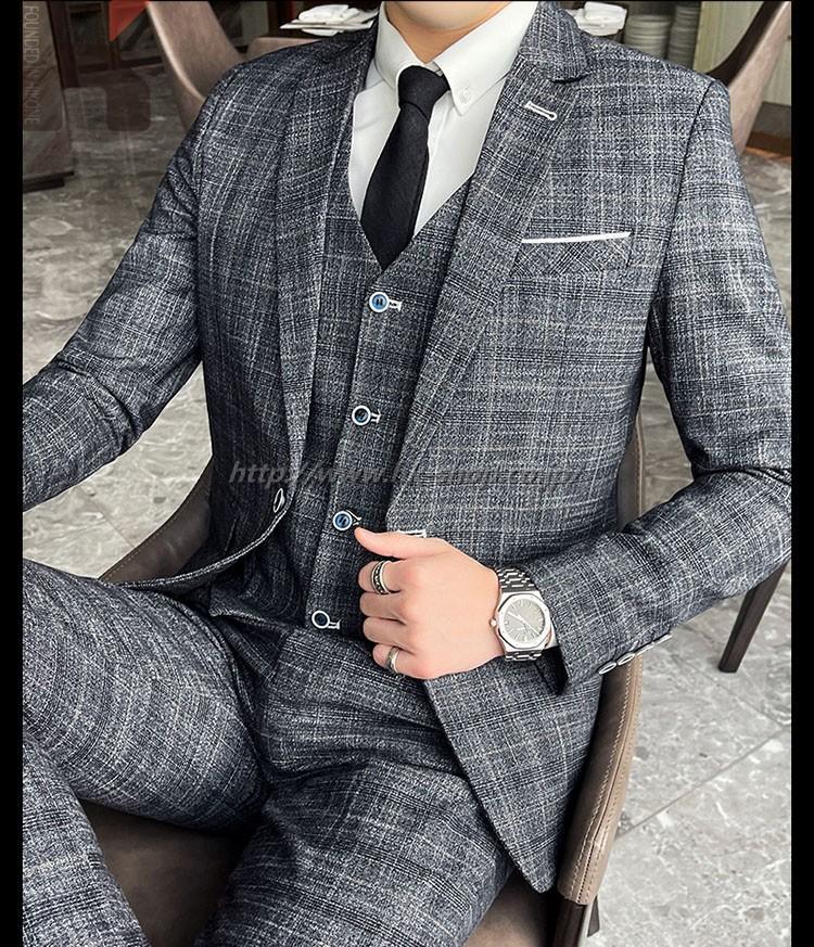 通勤ジャケット シングルスーツ セットアップ メンズ シンプル オフィススーツ スーツ シルエット 3点セット 事務服 チェック柄 パンツスーツ 宴会 入園式 卒業式 フォーマルスーツ フォーマル ビジネススーツ リクルートスーツ オールシーズン用