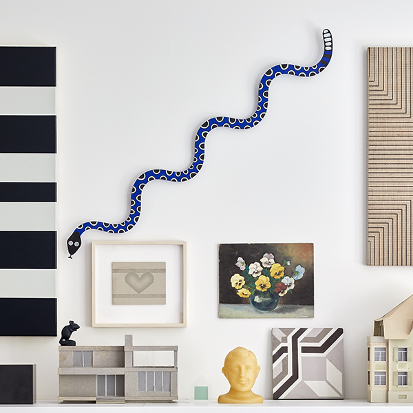 Metal Wall Relief Magic Snake