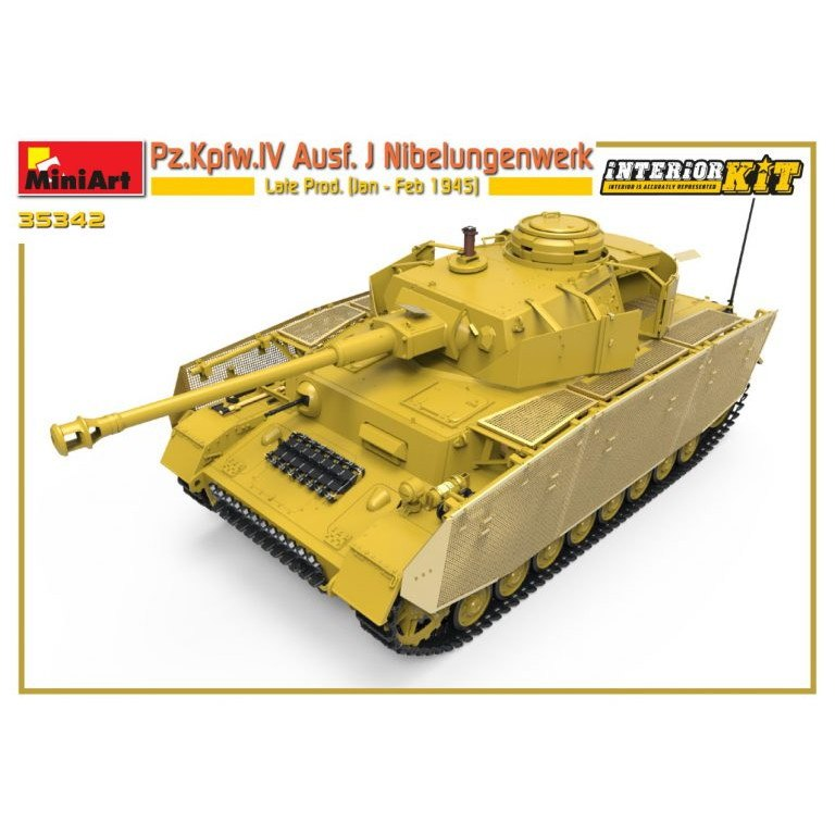 【新製品】35342 IV号戦車J型 ニーベルンゲン工場製 後期型 1945年1月-2月 フルインテリア(内部再現)