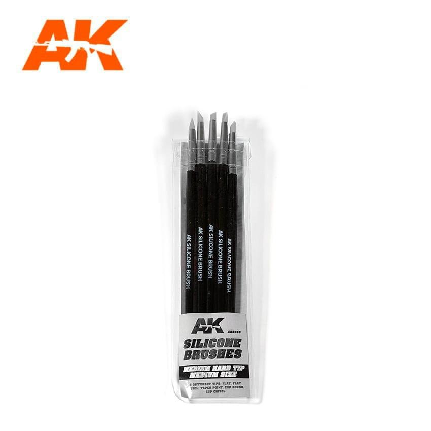 【新製品】AK09086 シリコンブラシ5本セット硬さ普通・中