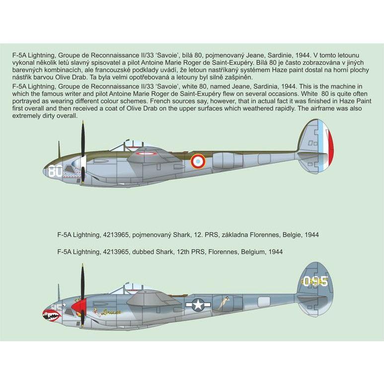 4399 ロッキード F-5A ライトニング 偵察機改造セット サン=テグジュペリ塔乗機