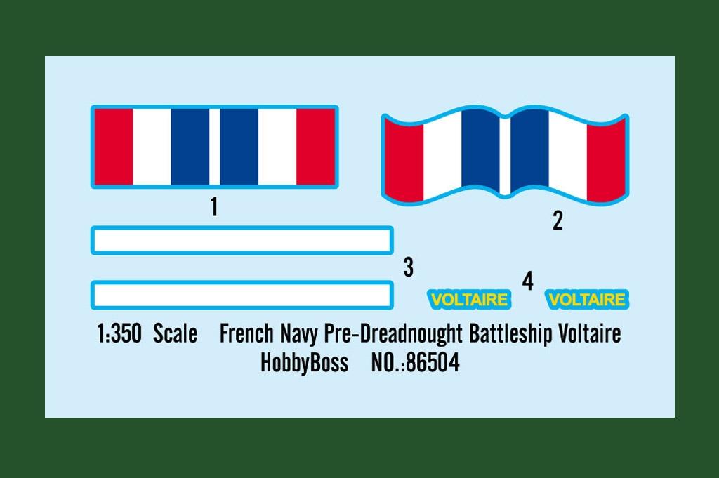 86504 フランス海軍 ダントン級戦艦 ヴォルテール