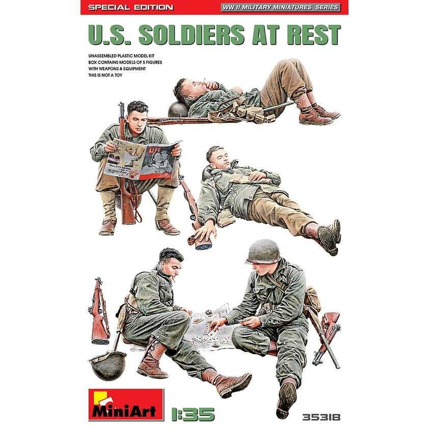 【新製品】35318 アメリカ兵 休息中5体入 特別版(歩兵用武器・装備品付)