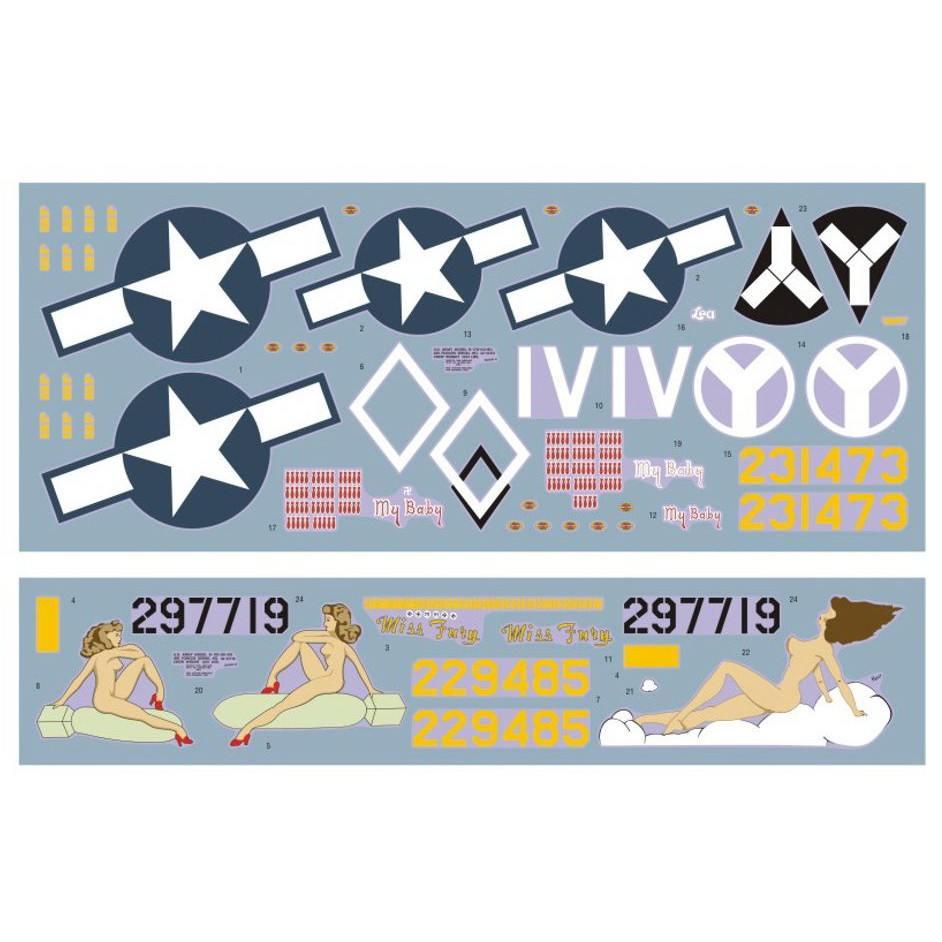 DKデカール 48037 ボーイング B-17F/G フライングフォートレス 15th AF