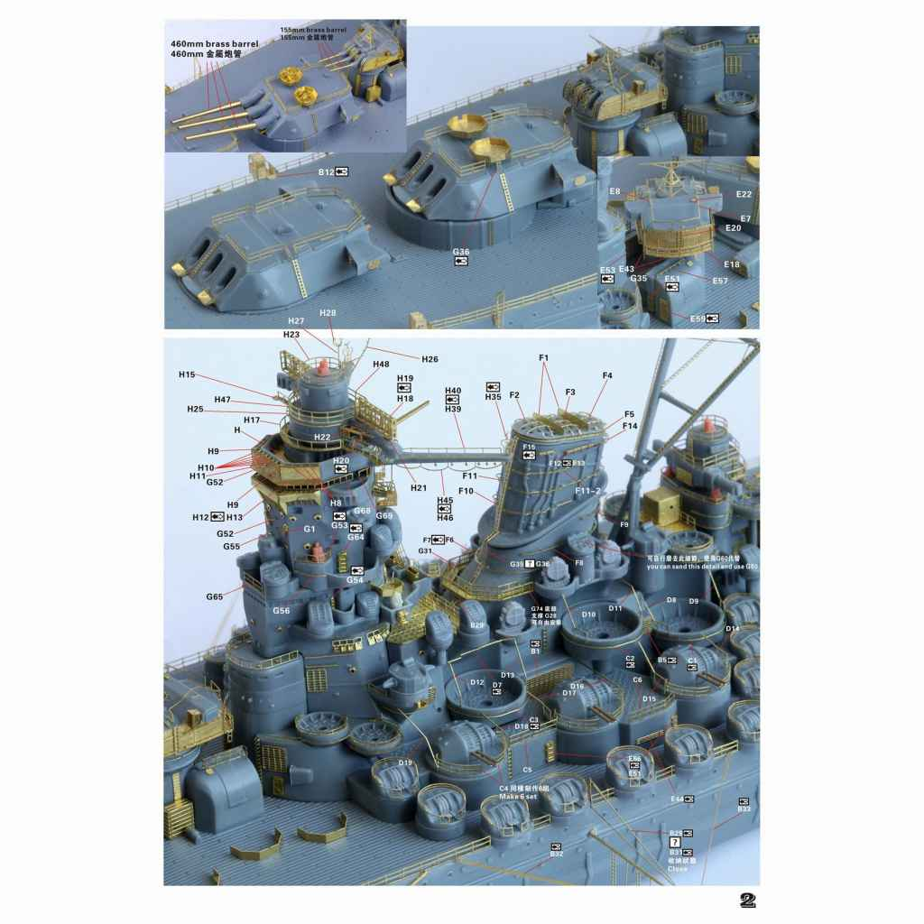 FS710279SP WWII 日本海軍 戦艦 大和 最終時 アップグレードセット(コンプリートバージョン)