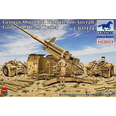 CB35114 独 8.8cmFlak41高射砲+砲トレーラー202型