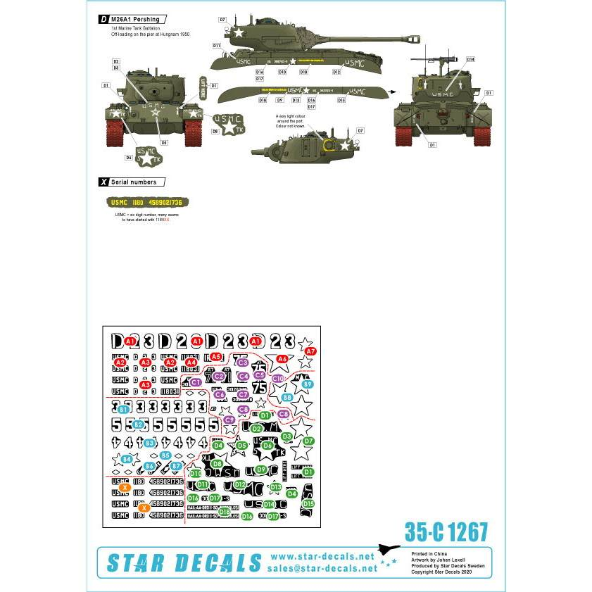 35-C1267 朝鮮戦争 米 海兵隊 朝鮮半島での米海兵隊1950?53 M26/M26A1パーシング