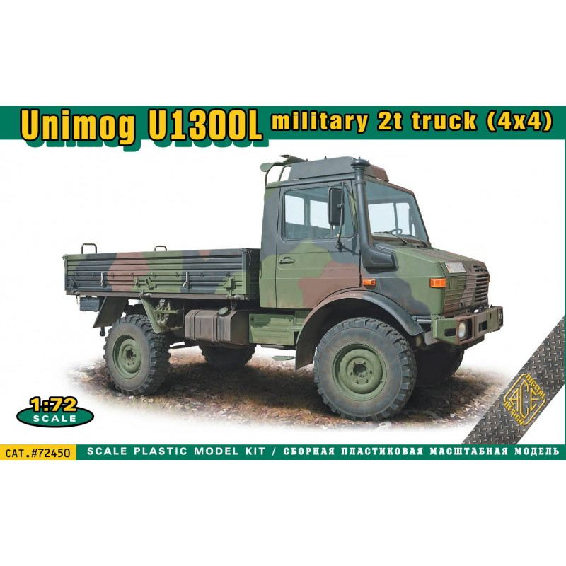【新製品】72450 ウニモグ U1300L 軍用2トントラック