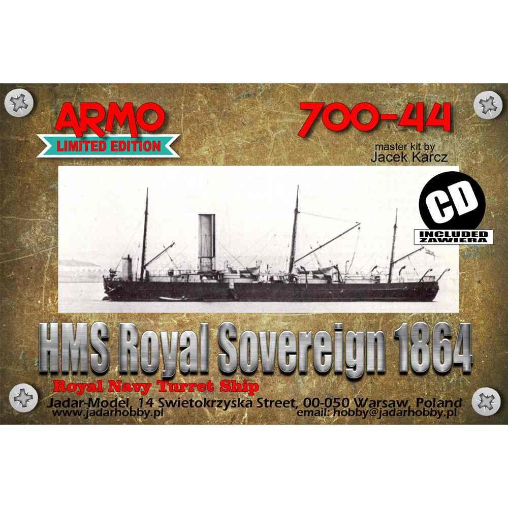 700-44 英海軍 砲艦 ロイヤル・ソブリン Royal Sovereign 1864