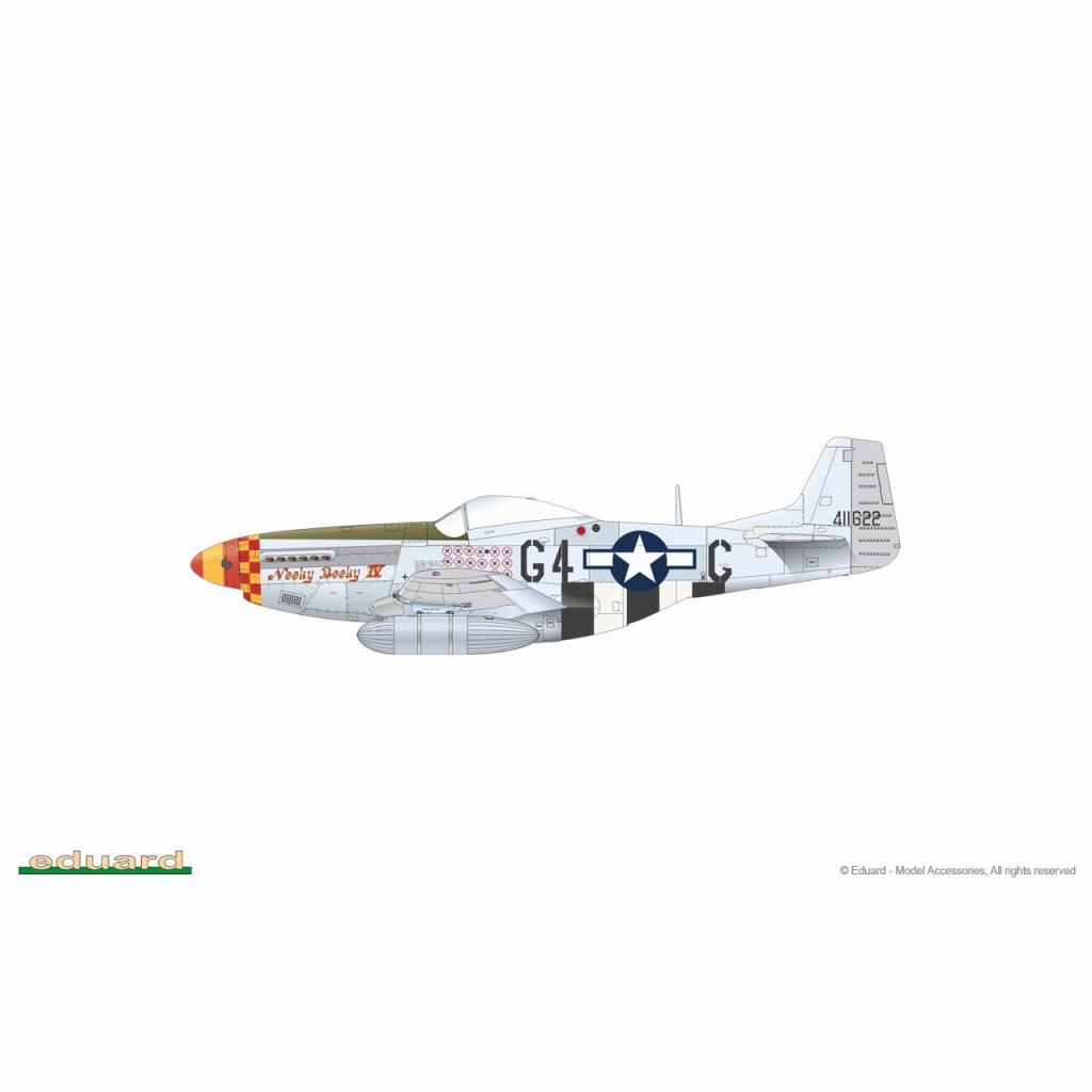 【新製品】82105 1/48 ノースアメリカン P-51K マスタング プロフィパック