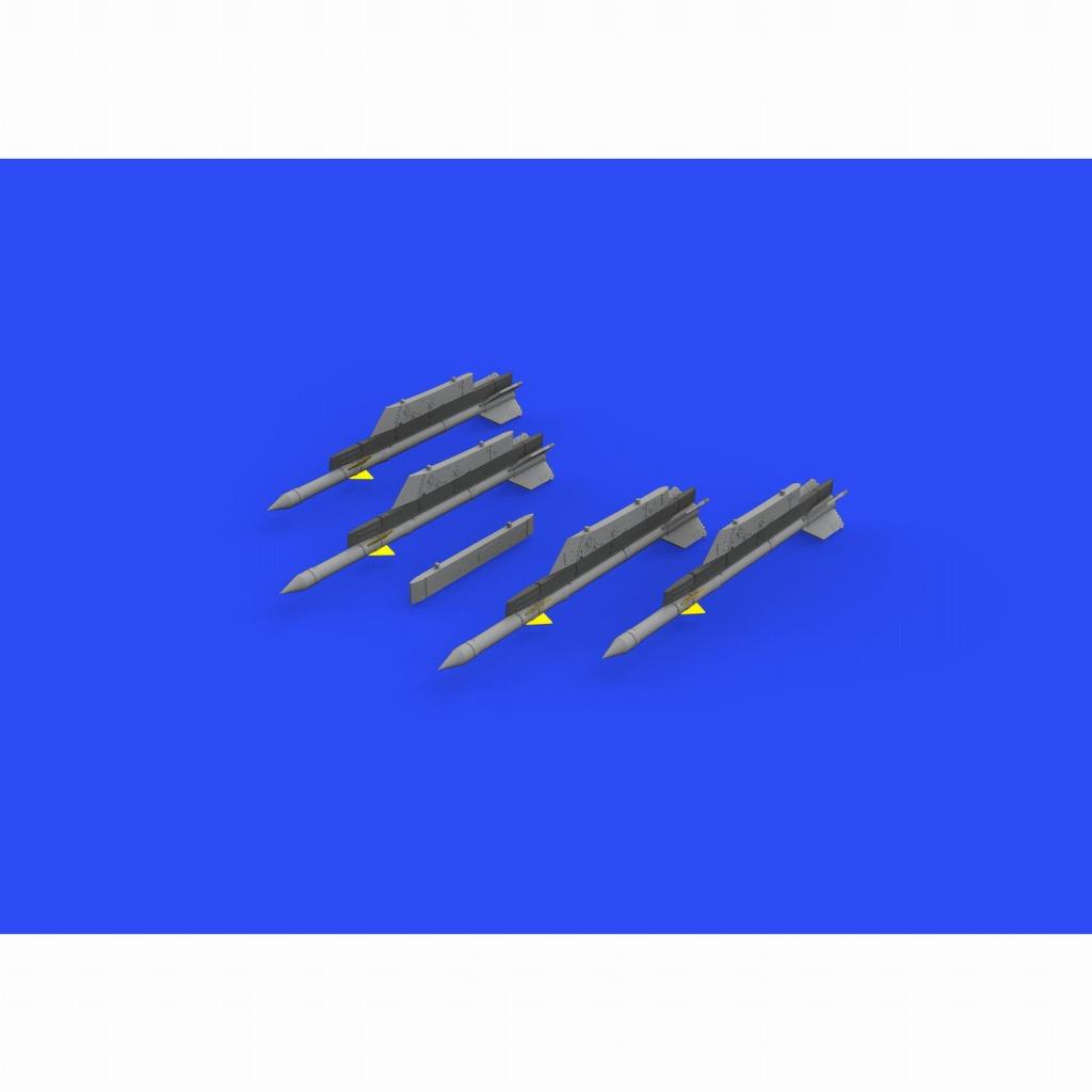 ブラッシン672240 R-3R レーダー誘導空対空ミサイル w/MiG-21ランチャーパイロン (4個入り) (エデュアルド用)