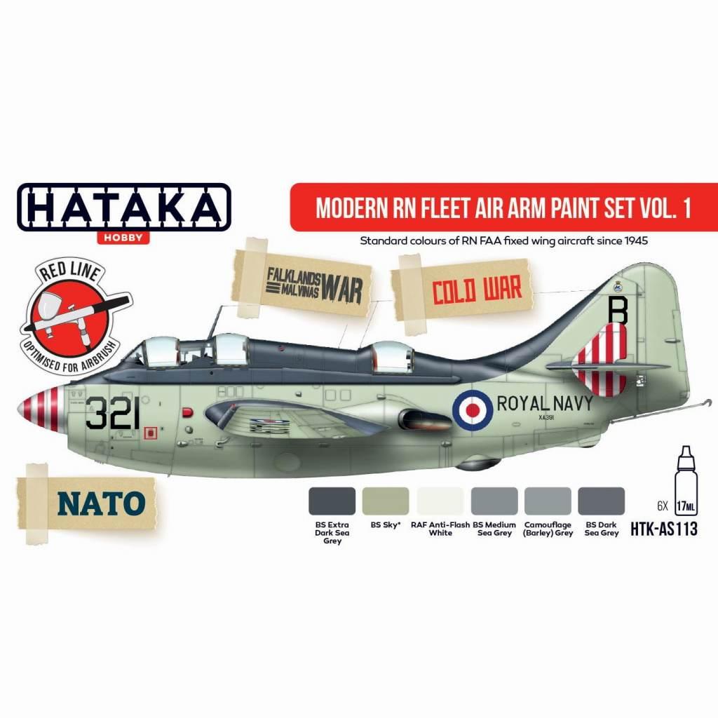 【新製品】HTK-AS113 現用 イギリス海軍 艦隊航空隊 Vol.1 水性アクリルカラー6本セット