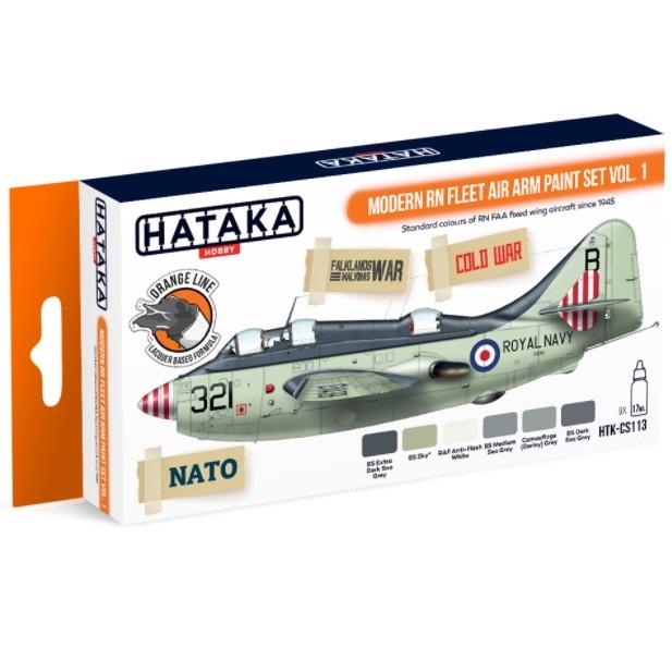 【新製品】HTK-CS113 現用 イギリス海軍 艦隊航空隊 Vol.1 ラッカーカラー6本セット
