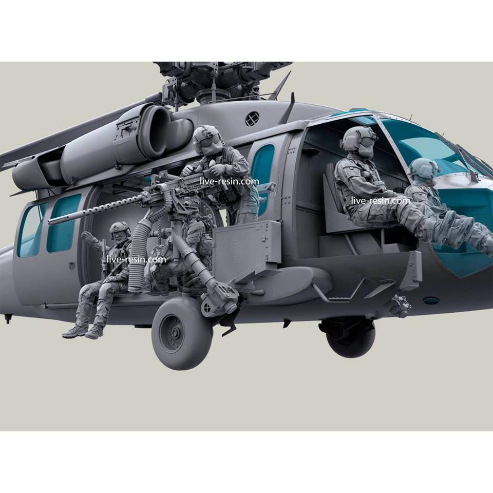 LRM-35024X 現用アメリカ空軍 HH-60G ペイブホーク クルー 7体セット