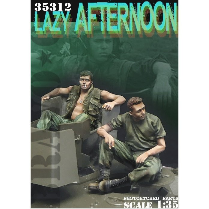 35312 ベトナム戦争 米陸軍「気だるい午後」US米戦車兵休息セット(2)