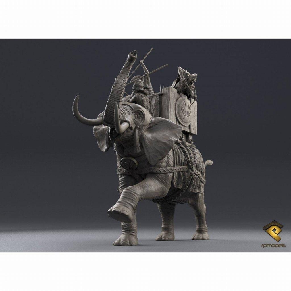 HRP-75-01-003 古代カルタゴ ウォーエレファント