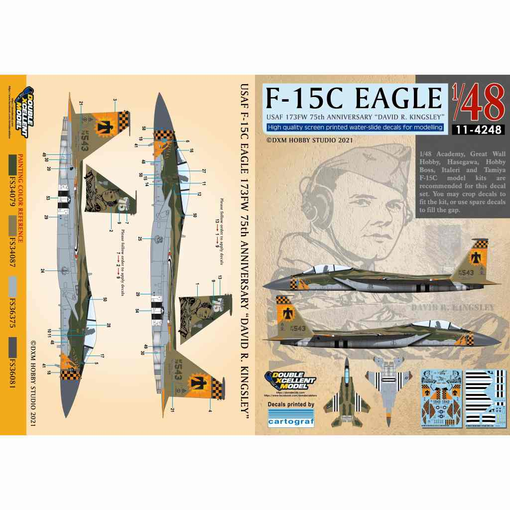 【新製品】11-4248 アメリカ空軍 F-15C イーグル 173FW 75周年 デヴィッド・R・キングスレー