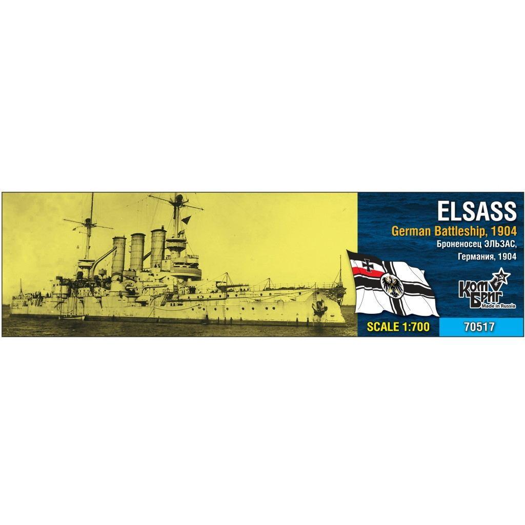 70517 独海軍 ブラウンシュヴァイク級戦艦 エルザース Elsass 1904