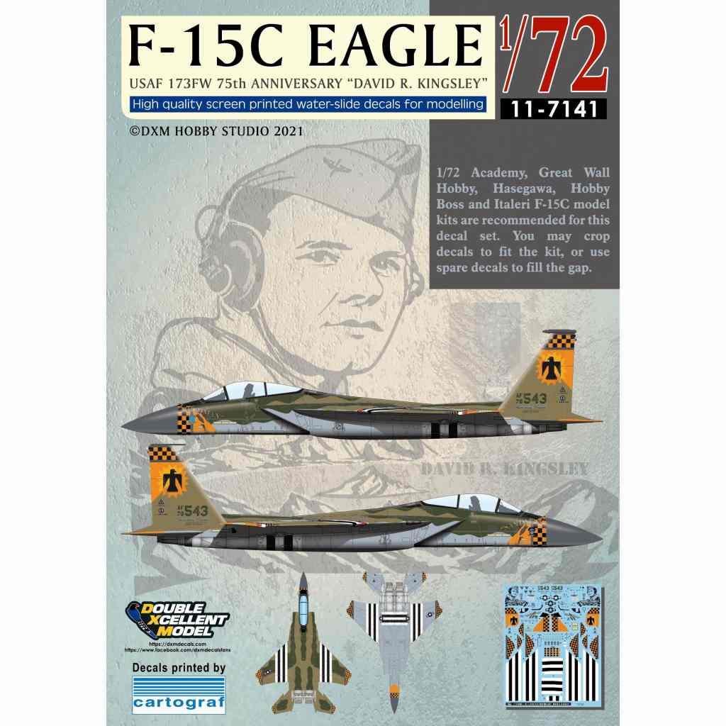 【新製品】11-7141 アメリカ空軍 F-15C イーグル 173FW 75周年 デヴィッド・R・キングスレー