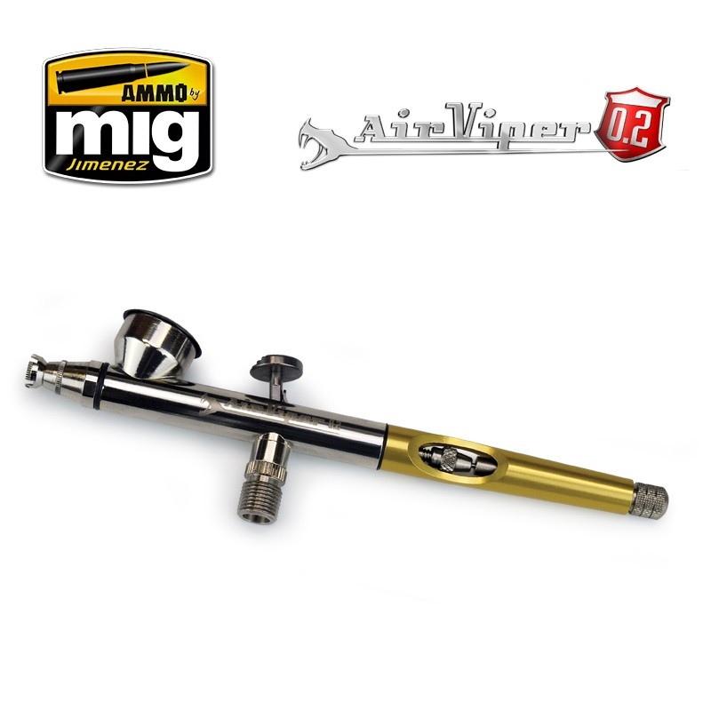 A.MIG-8624 「エアヴァイパー」 スーパーファインエアブラシ (0.2mm)